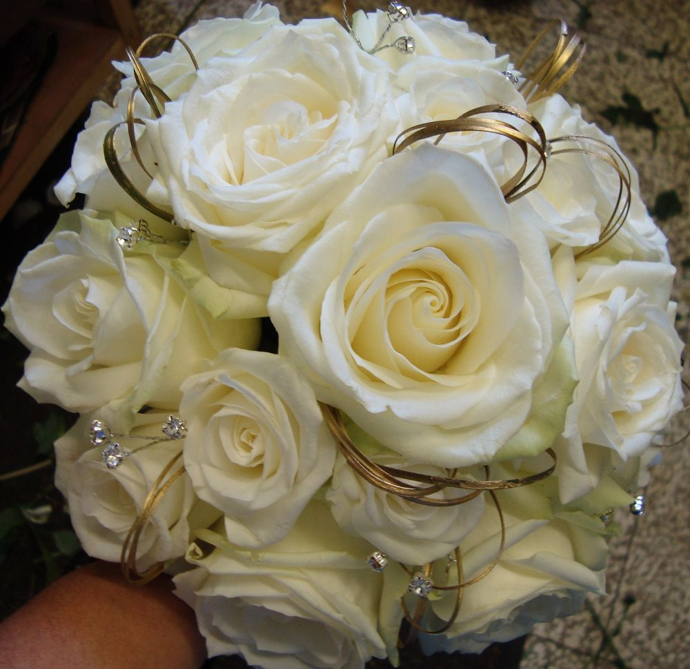 Rose and diamante bouquet