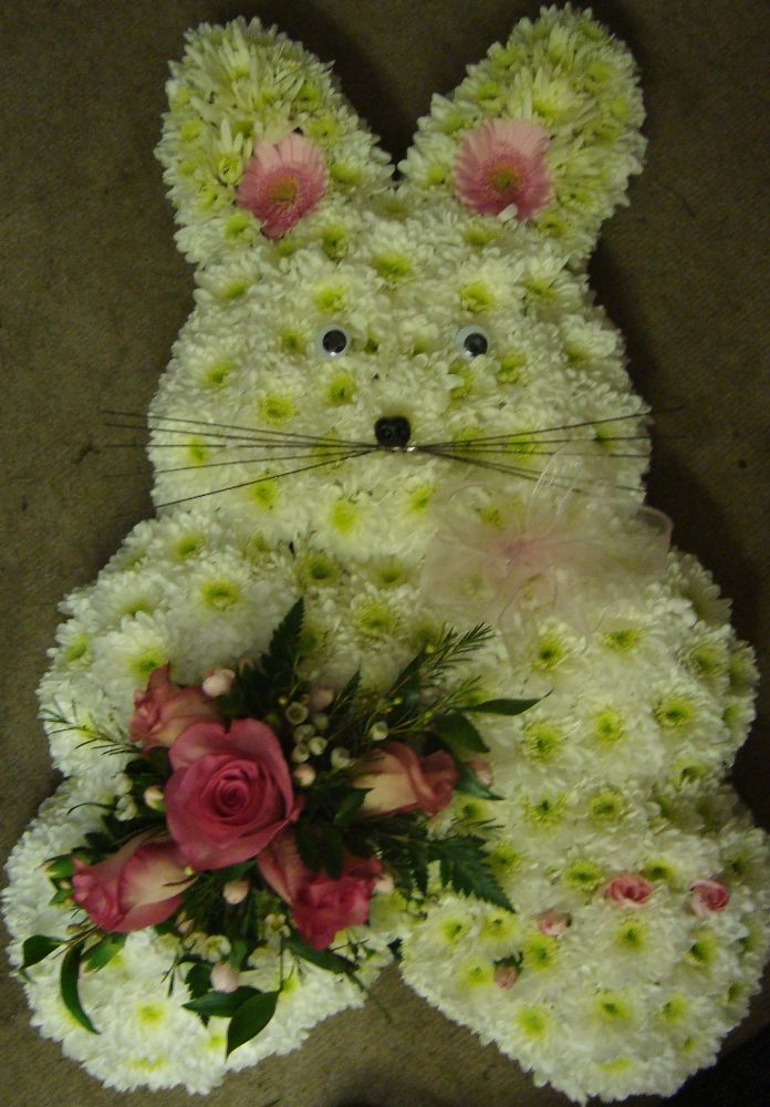 2d rabbit floral tribute